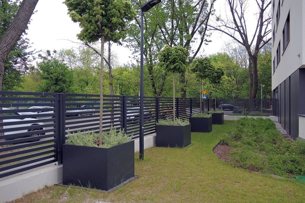 big urban space planters