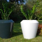 flower pots for gardens and interiors in different colours