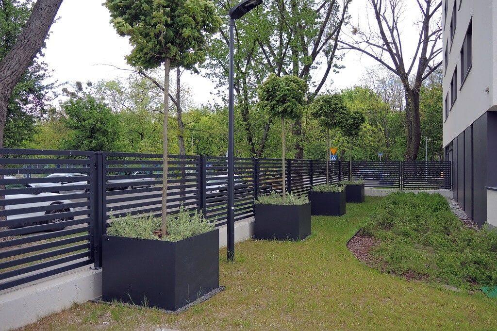 big urban space planters