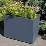 large commercial polymer concrete planter