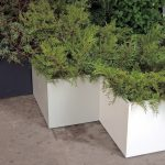 large planters in different colours